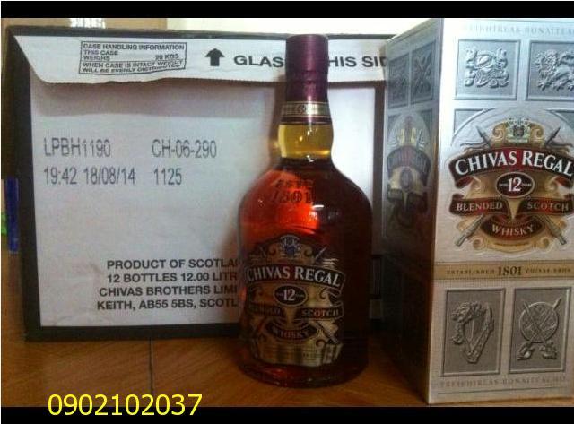 Rượu CHIVAS 12 nam - Hàng châu Âu