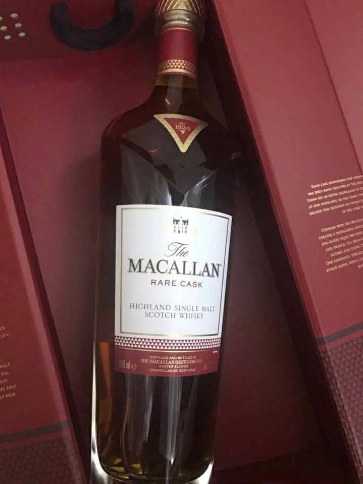 Rượu Macallan Rare Cask seri 1824 hàng Nhật Bản.