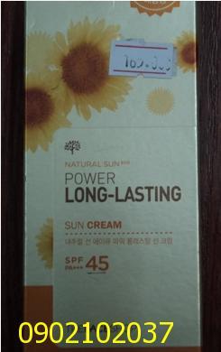 Kem chống nắng không trôi Power Long Lasting Sun Cream SPF45 PA The F...