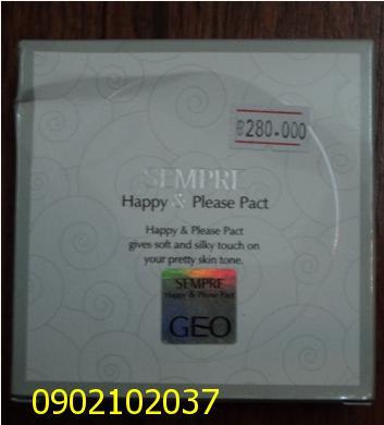 Phấn phủ Geo ngọc trai Sempre happy & please Pact