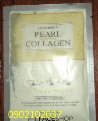 Bột đắp mặt - pha nước PEARL COLLAGENE hiệu The FACE Shop