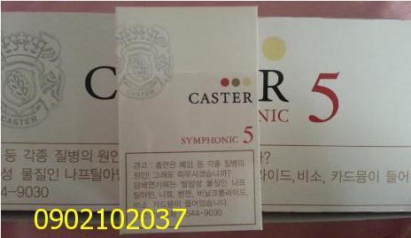 Thuốc lá Caster 1,  3, 5, 7 cua Hàn Quốc