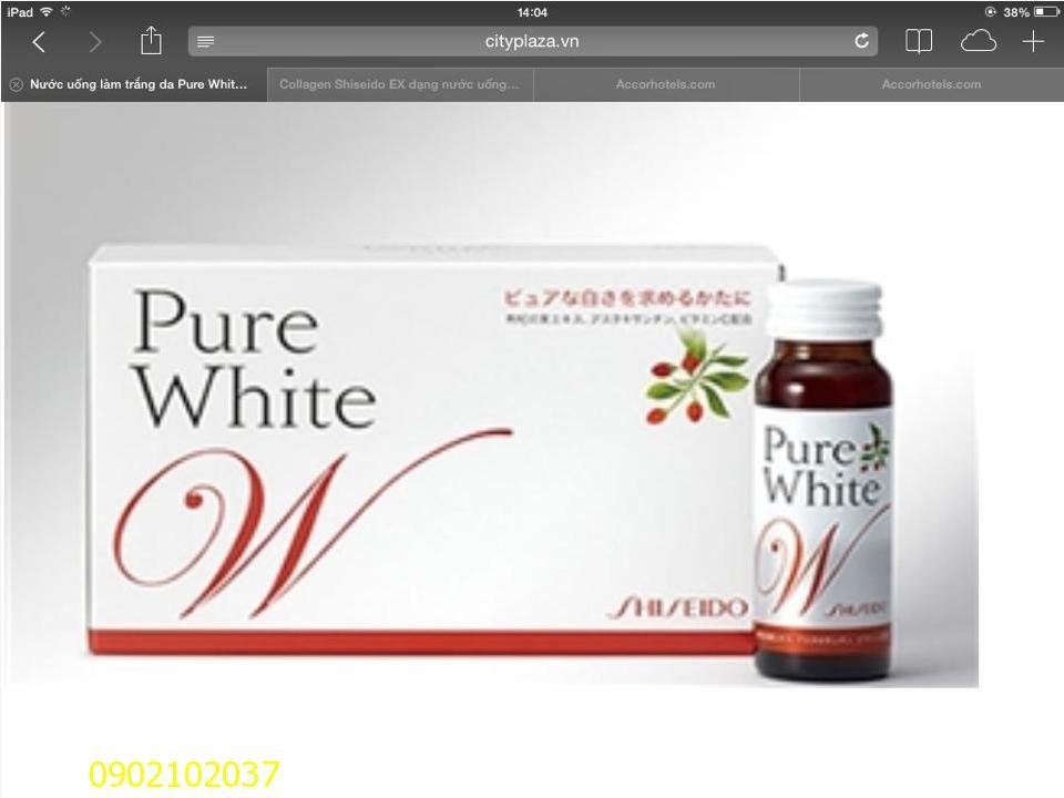 Thực phẩm chức năng làm trắng da Pure White của Shiseido Nhật ...