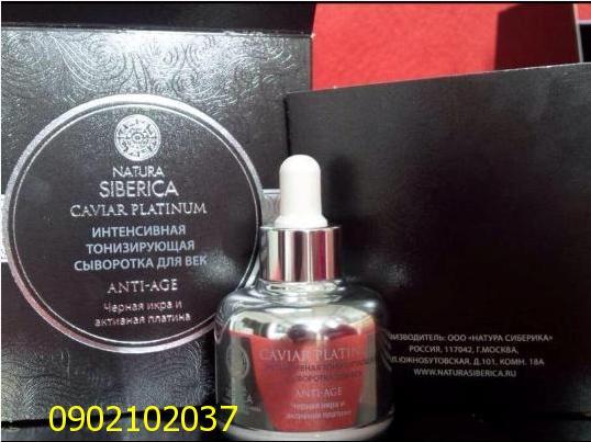 Serum cao cấp Caviar Platinum - Natura Siberica - Nga