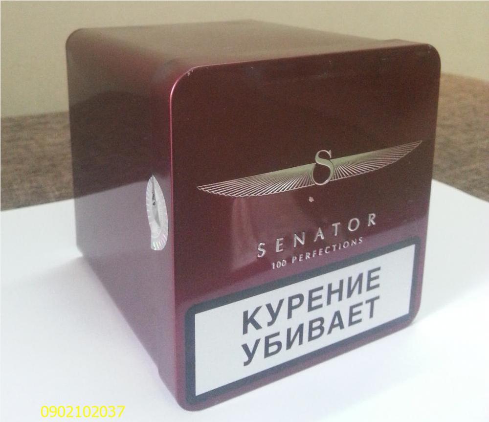 Thuốc Lá Thơm Hộp kim loại SENATOR - Nga - Hương đào