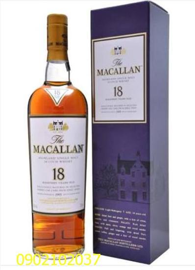 Rượu Macallan 18 năm - hàng xịn, chính hiệu 100%