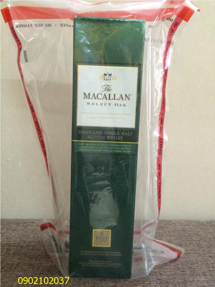 Rượu Macallan 1824 Select Oak - Xanh - Hàng Duty Free shop