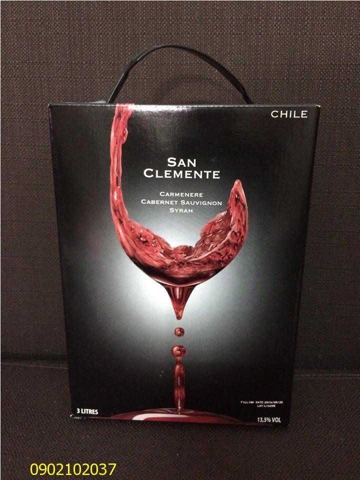 Rượu vang bịch San Clemente 3 lít