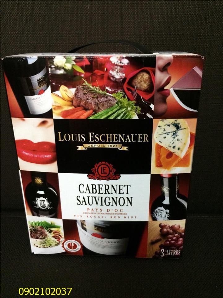 Rượu vang bịch Louis Eschenauer 3 lít