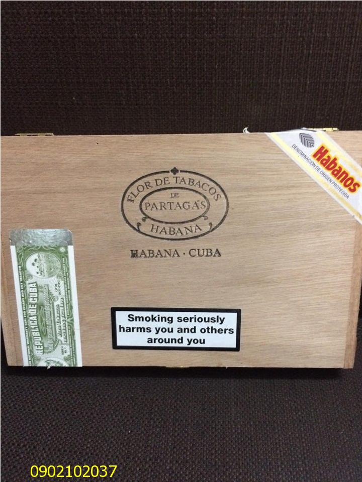 Xì gà Patagas D No 04 - Hộp gỗ 10 điếu