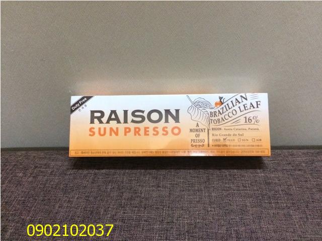 Thuốc lá Raison sun Presso - Hàn Quốc